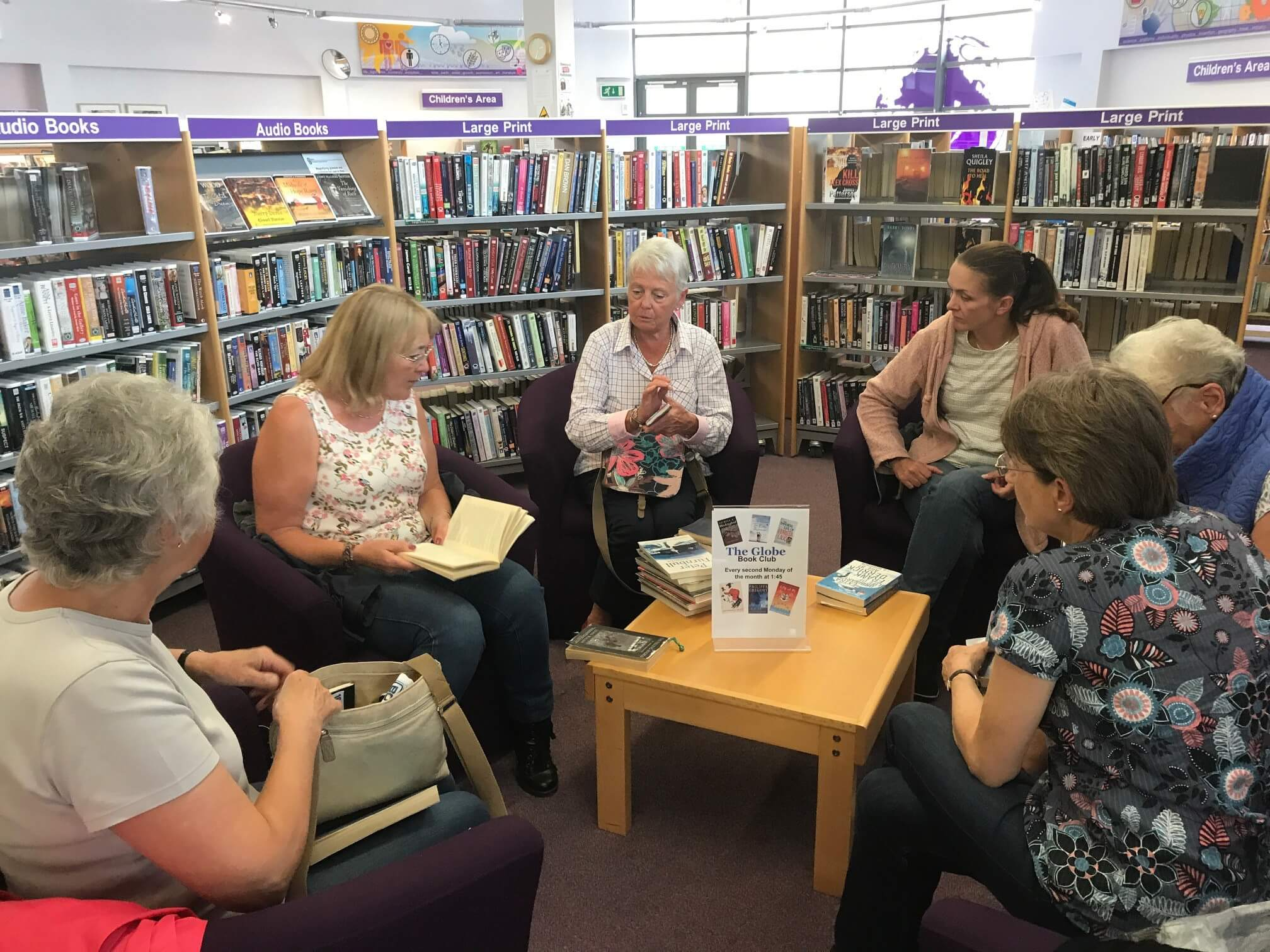 Book Club, Reading Corner, The Globe Library, Stokesley