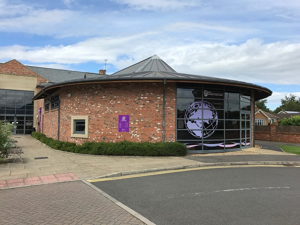 The Globe Library, a network of Community Libraries run by volunteers in partnership with North Yorkshire County Council.