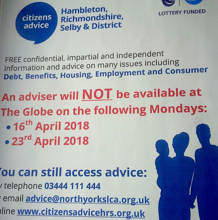 Citizens Advice Drop in Service - Holiday Closing